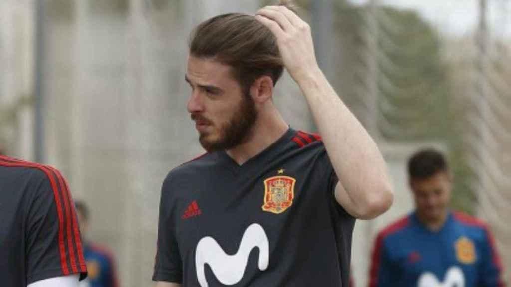 De Gea en la concentración de la Selección. Foto sefutbol.com