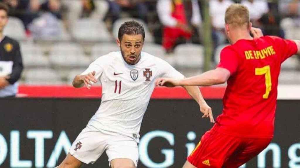Bernardo Silva, con Portugal. Foto Instagram (@bernardocarvalhosilva)