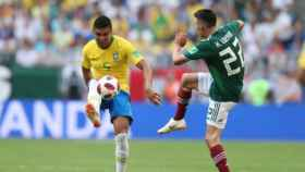 Casemiro, ante México en los octavos del Mundial. Foto: Twitter (@CBF_Futebol)