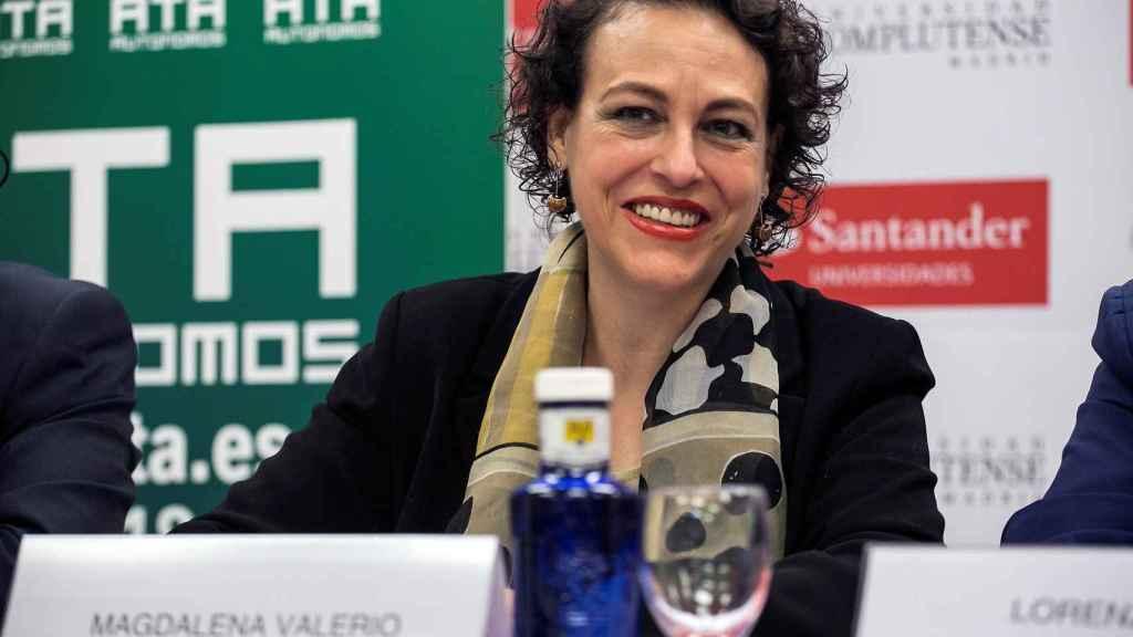 La ministra de Trabajo, Magdalena Valerio, durante el curso 'Nuevos retos para autónomos y emprendedores'.
