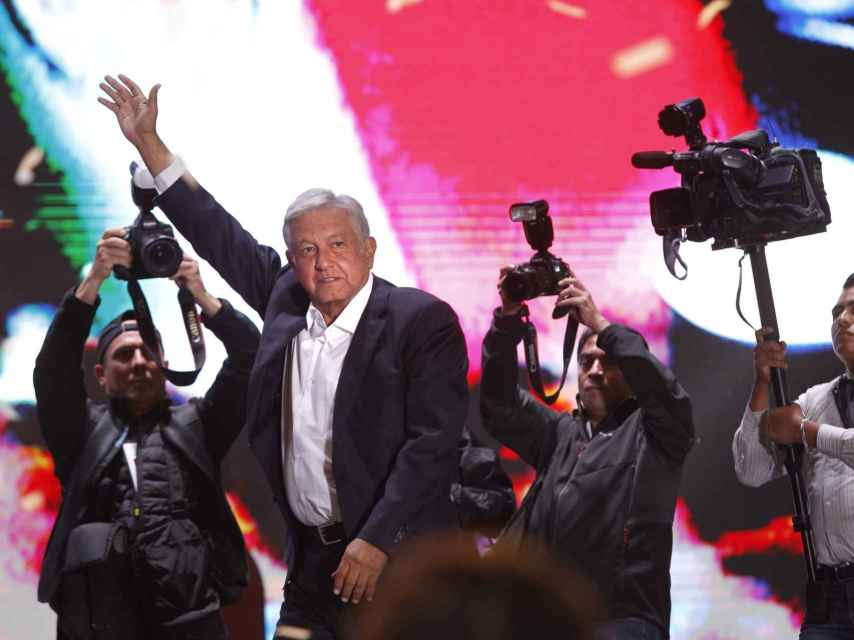 AMLO tras su victoria en las elecciones.