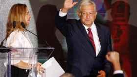 López Obrador, tras conocer su victoria.