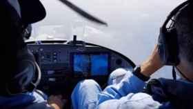 Un avión de vigilancia de la ONG Pilotes Voluntaires sobre el Mediterráneo