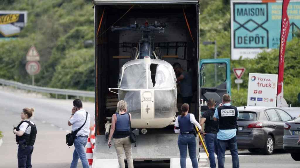 El helicóptero de la fuga