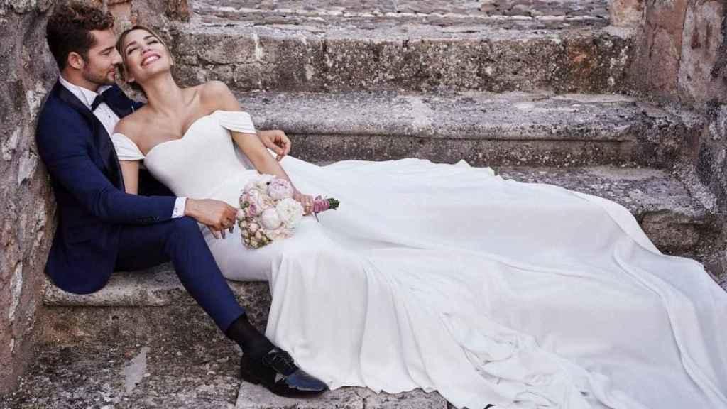 David Bisbal y Rosanna Zanetti el día de su boda.