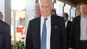 Mario Vargas Llosa durante la presentación de los cursos de verano de la Universidad Complutense de Madrid.