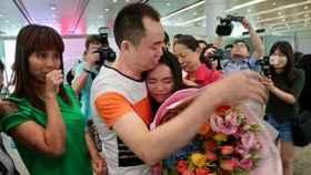 La joven desapareció en 2005 y ha vuelto ahora a abrazar a su familia.