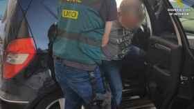 Detención efectuada por la Guardia Civil en la operación sobre estibadores en Algeciras.