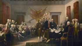 La declaración de independencia retratada por John Trumbull