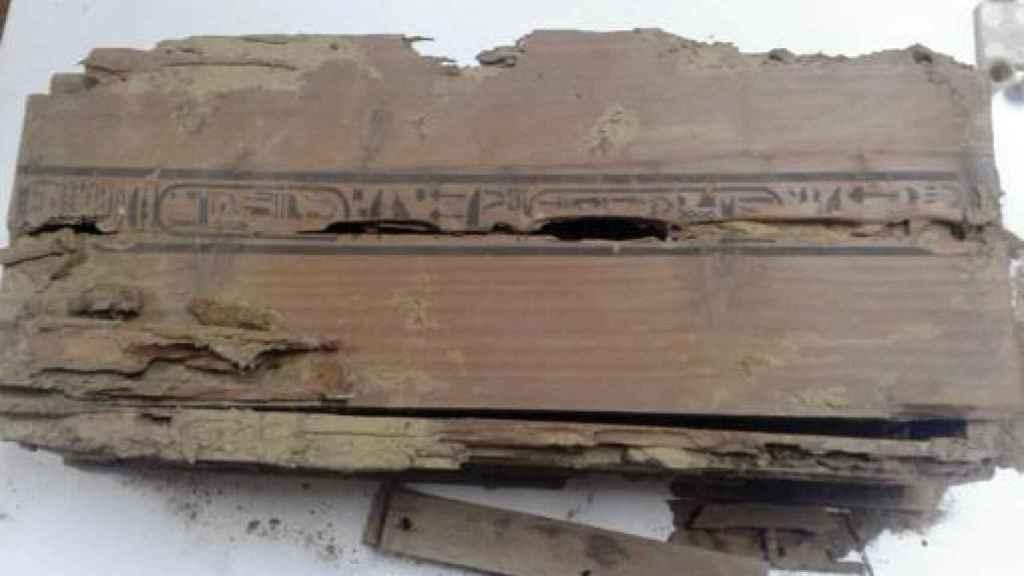 Una de las inscripciones de los ataúdes