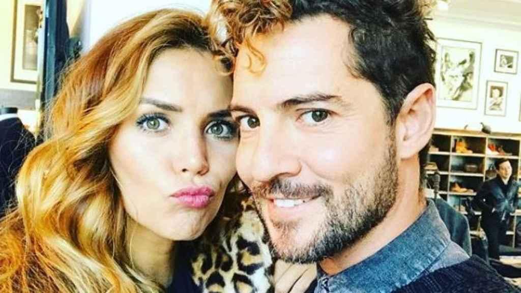 David Bisbal y Rosanna Zanetti en una imagen en sus redes sociales.