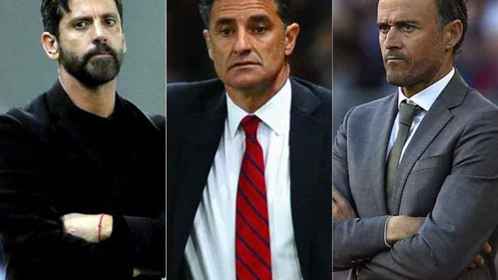 Quique, Míchel y Luis Enrique son los tres candidatos para sustituir a Hierro.