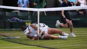 Muguruza, durante su partido de segunda ronda de Wimbledon.