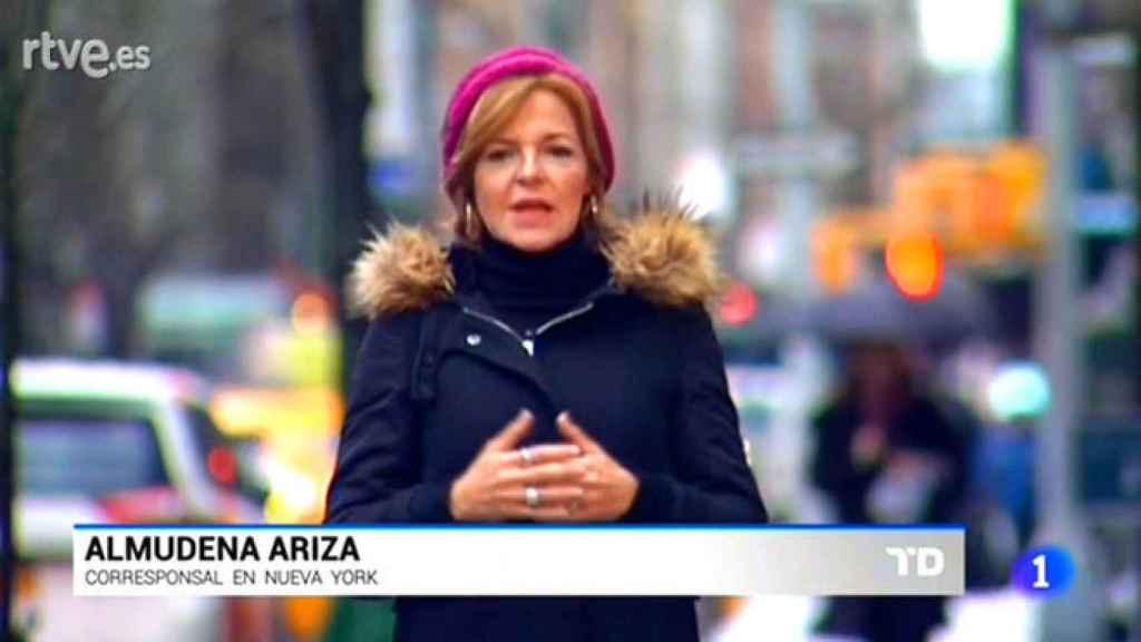 Almudena Ariza, en uno de los 'Viernes negros' de TVE.