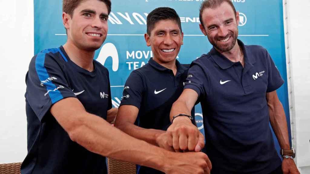 Landa, Quintana y Valverde en la previa del Tour de Francia 2018