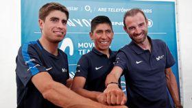 Landa, Quintana y Valverde en la previa del Tour