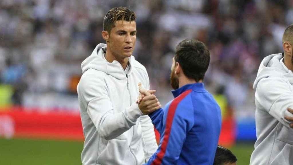 Cristiano y Messi en un Clasico. Foto. Twitter (@LaLiga)