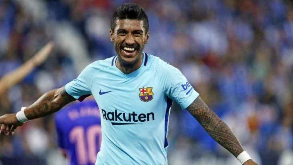 Paulinho, celebrando un gol con el Barcelona. Foto: fcbarcelona.es