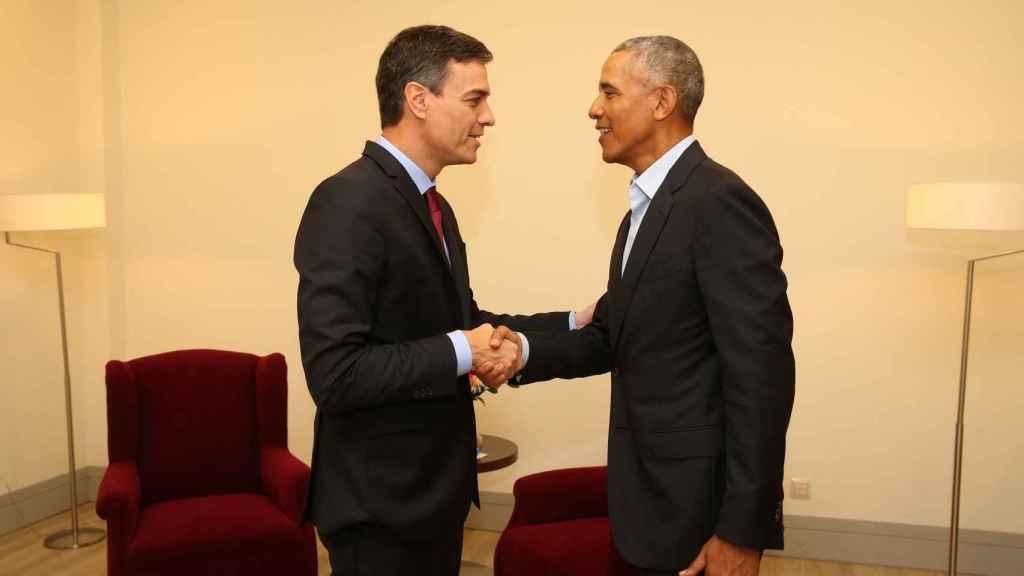 Encuentro entre Pedro Sánchez y Obama en Madrid