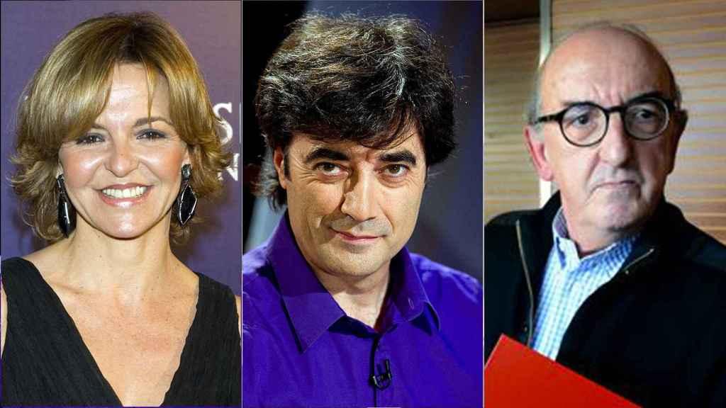Almudena Ariza, Tomás Fernando Flores y Jaume Roures.