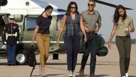 Barack, Michelle, Malia y Sasha Obama.