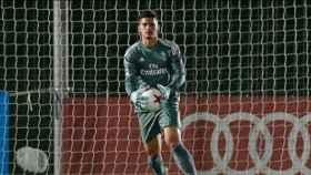 Javier Belman, portero del Real Madrid Castilla