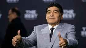 Maradona en la gala The Best. Foto: fifa.com