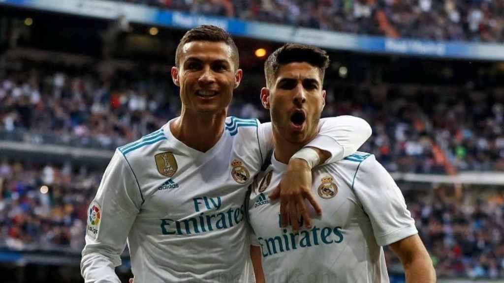 Cristiano y Asensio en el Real Madrid - Sevilla