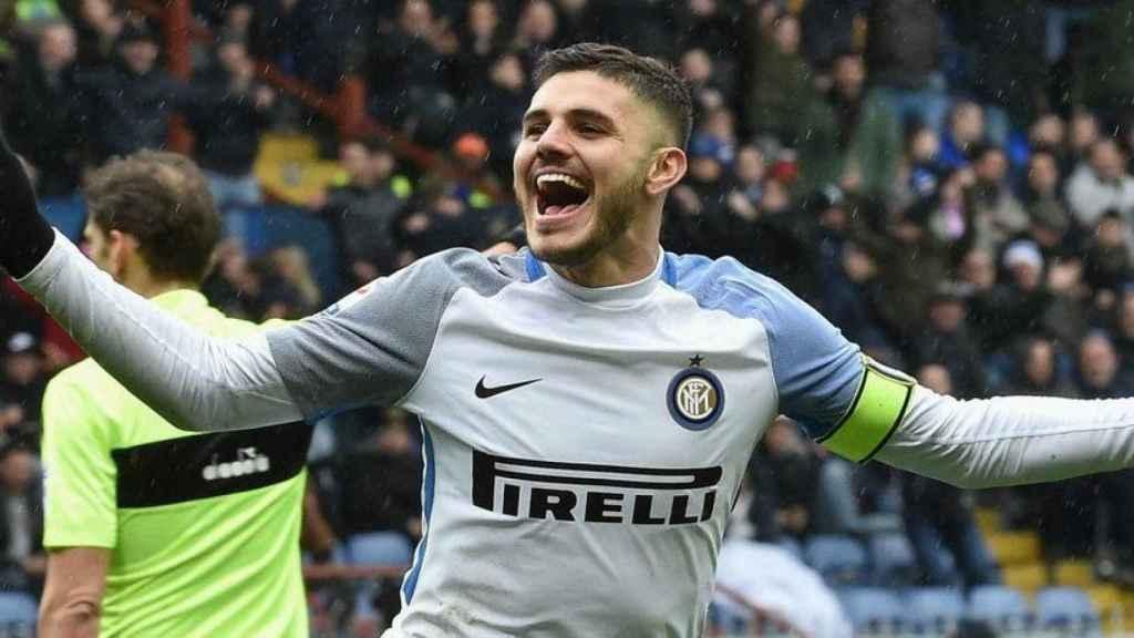 Icardi celebrando un gol. Foto: Twitter (@Inter)