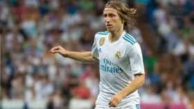 Luka Modric, en un partido con el Real Madrid. Foto: Pedro Rodríguez / El Bernabéu