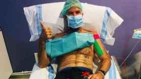 Pau Donés en su última sesión de quimioterapia.