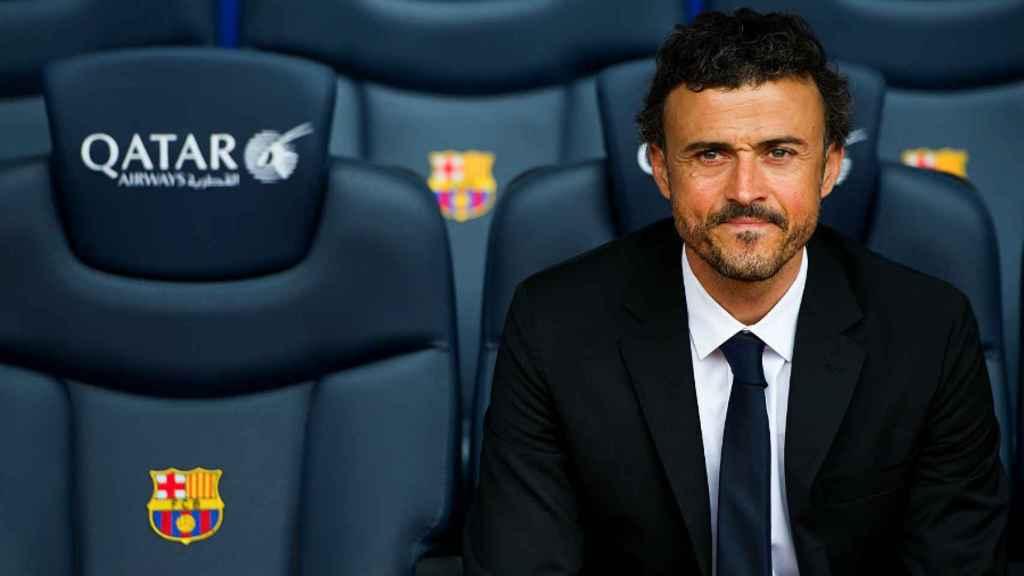 Luis Enrique, en el banquillo del Barcelona.
