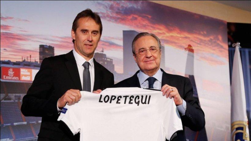 Julen Lopetegui y Florentino Pérez