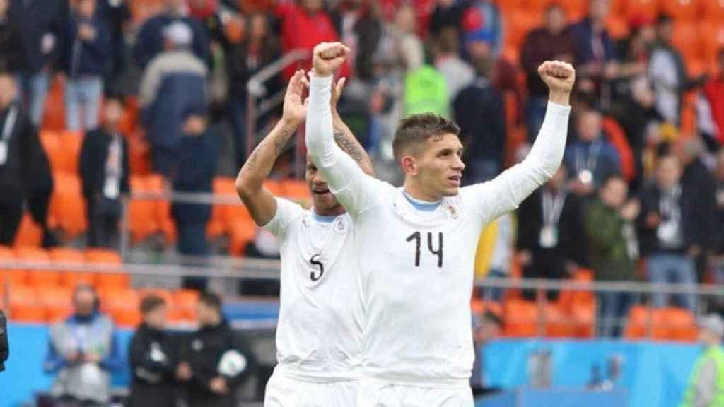 Lucas Torreira, con Uruguay