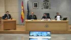 El expresidente del Gobierno, Mariano Rajoy, durante su declaración como testigo en Gürtel.