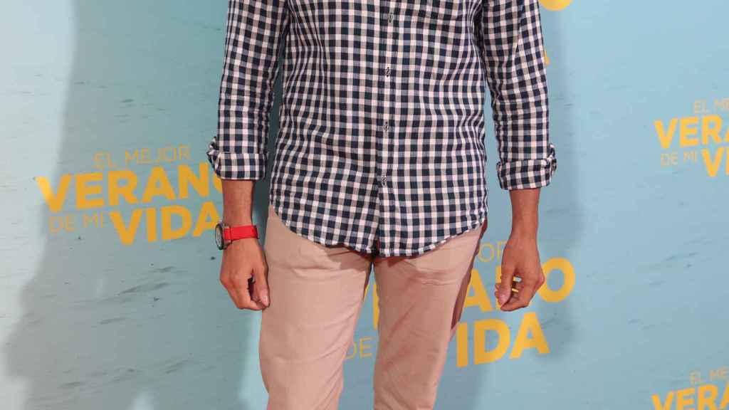 Julián Contreras posa en la première de El mejor verano de mi vida.
