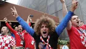 Aficionados croatas.