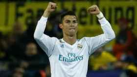 Cristiano celebra uno de sus goles ante el Dortmund. Foto Twitter (@ChampionsLeague)