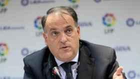 Javier Tebas durante un acto de La Liga. Foto: laliga.es