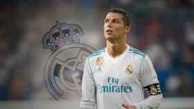 Cristiano Ronaldo y el escudo del Real Madrid en un fotomontaje