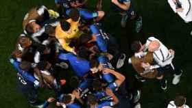 Francia celebra su victoria ante Bélgica. Foto: Twitter (@equipedefrance)