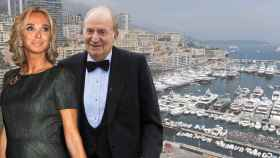 Fotomontaje de Corinna zu Sayn-Wittgenstein con Juan Carlos I. Al fondo, la marina de Montecarlo, en Mónaco.