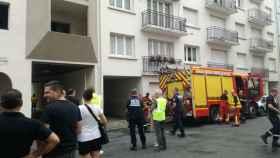 Imagen del edificio de Pau donde se ha producido el suceso.