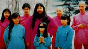 Shoko Asahara junto a su familia.