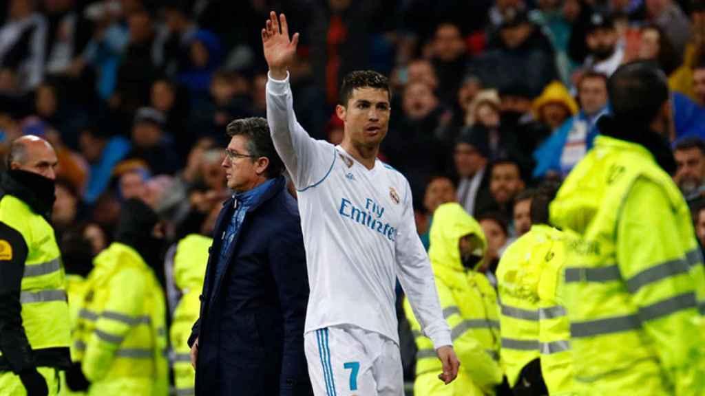 Cristiano Ronaldo se despide del Santiago Bernabéu Foto: Pedro Rodríguez/El Bernabéu
