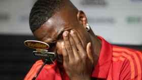 Vinicius llora en su despedida. Foto Twitter (@Flamengo)