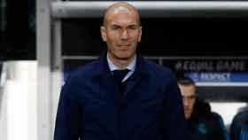 Zidane en el partido ante el PSG