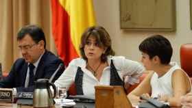 La ministra de Justicia, Dolores Delgado, esta miércoles en la Comisión de Justicia del Congreso.