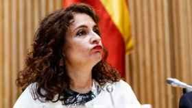 María Jesús Montero, ministra de Hacienda, en su comparecencia en el Congreso.