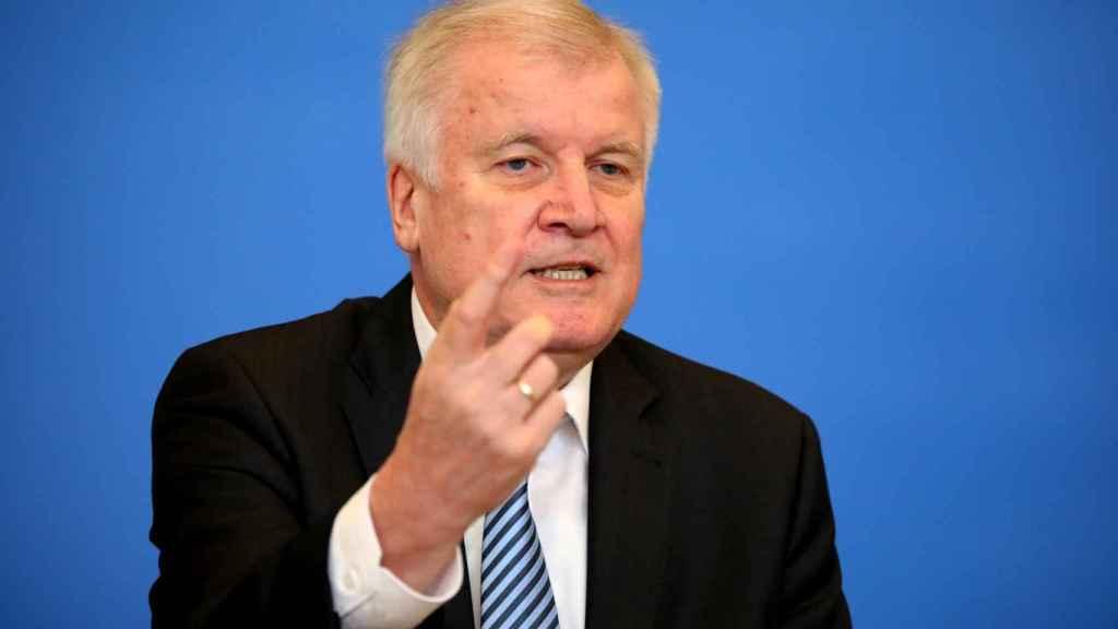 Horst Seehofer, ministro del Interior de Alemania.